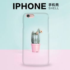 i7 i7plus Simple cactus For Apple iPhone 5 5s se 6 6s plus 7 7plus Phone Case Protective Shell PC Hard Back Cover Skins Lovers