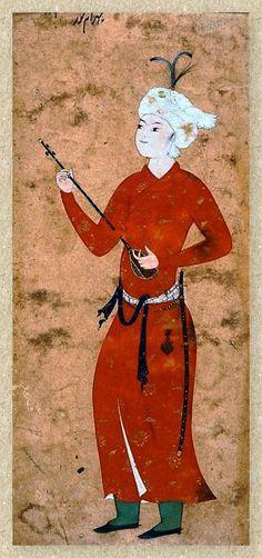 Bahram Gur with a lute Persian miniature, Safavid times 16èmesiècle