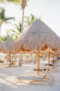 "Elegant ""I Do's"" in Mexico Complete with the Beach + Blooms"