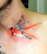beautiful watercolor tattoo