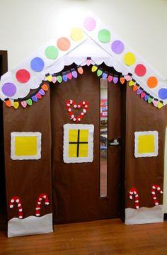 Christmas classroom decorations, Classroom Christmas Door Decorating Ideas, Classroom Decorations - like a house