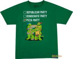 Vote Pizza Party Shirt