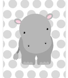 Hippo Nursery Decor, Hippo Canvas, Nursery Wall Art, Nursery Print, Zoo Nursery Art, Zoo Wall Art, Baby Room Decor, Gender Neutral Nursery by SweetPeaNurseryArt on Etsy