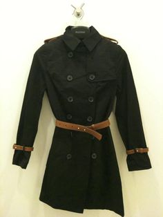 modern trench coat, great to cover up a sexy dress for an evening out and pair with a work outfit during the day
