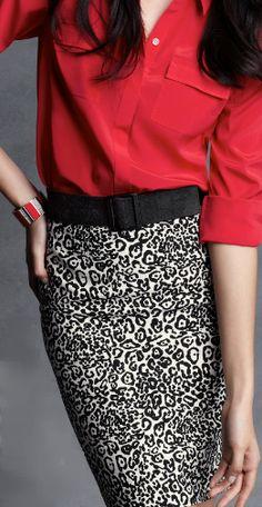 Ann Taylor: Haircalf Stretch Belt, Deco Enamel Stretch Bracelet