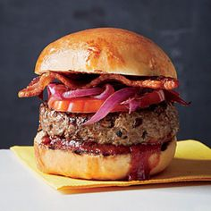 Tennessee Burger with Bourbon and BBQ Sauce | MyRecipes.com