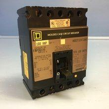 Square D FAP36100 100A Circuit Breaker 600V MC 3 Pole Type FAL FAP-36100 100 Amp (EM1929-1)