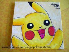 Tableau Dessin sur Toile Pokemon Aquarelle Pikachu
