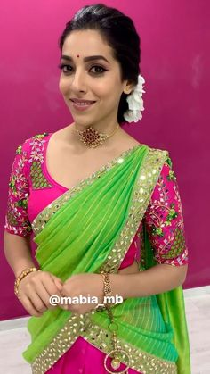 Blouse Designs High Neck, Wedding Saree Blouse Designs, Half Saree Designs, Fancy Blouse Designs, Pattu Saree Blouse Designs, Mirror Work Blouse Design, Long Dress Design, Stylish Blouse Design, Roja Hot