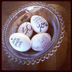 Pasen #eieren met teksten #paqhuis #pinterest #sukha