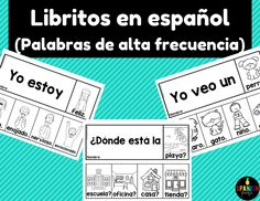 Great reading activity for students in Kindergarten or first grade to practice reading. Perfect for a center, Daily homework, morning work, etc. Libritos de palabras de alta frecuencia o palabras de uso frec Spanish Lessons For Kids, Spanish Basics, Spanish Teaching Resources, Bilingual Classroom, Classroom Language, Spanish Classroom, Preschool Spanish, Spanish Teacher, Daily 5