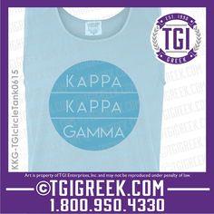 TGI Greek - Kappa Kappa Gamma - Comfort Colors - Tanks - Sorority PR - Greek T-shirts  #tgigreek #kappakappagamma