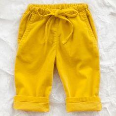 simple kids velvet baby trouser