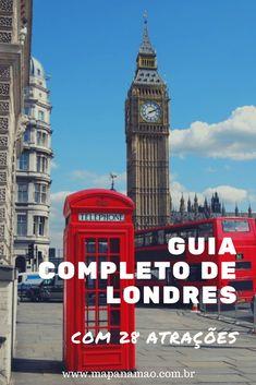 Se eu fosse você, clicava aqui para ver esse guia incrível de Londres com 28 atrações imperdíveis! #london #londres #reinounido #inglaterra