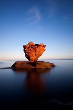 Tea Cup Rock, Prince Edward Island, Canada by adrian Pvt Canada, Canada Eh, Canada Summer, East Coast Travel, East Coast Road Trip, Prince Edward Island, Nova Scotia, Ottawa, Calgary