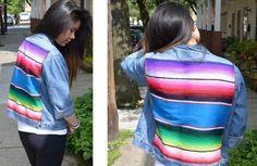 DIY Clothes Refashion: DIY Blanket Denim Jacket