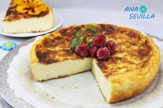Tarta de queso La Viña, con Thermomix, tradicional y Olla GM. Ana Sevilla Cook Smarts, Thermomix Desserts, Sin Gluten, Sweet Recipes, French Toast, Food And Drink, Pudding, Sweets, Cooking