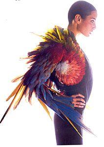 Jean-Paul Gaultier parrot boléro