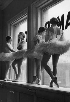 1930s ballet dancers vintage photo