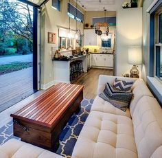 """2,893 Likes, 38 Comments - Dream Big Live Tiny® Co. (@dreambiglivetiny) on Instagram: """"(2/3) This gorgeous tiny house is composed of two structures: a main house on a foundation and a…"""""""