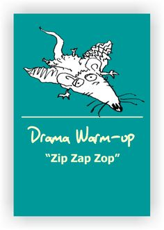 "FREE DRAMA GAME~Zip Zap Zop~ This is one of the most famous theater warm-up games.  Stand in a circle. Have students practice saying ""Zip, Zap, Zop."" One person starts by clapping and pointing to someone as she says, ""zip."" The person she pointed to claps, and points to someone else saying ""zap."" The person she pointed to then claps, and points to someone saying ""zop."" Read more...  https://www.dramanotebook.com/drama-games/zip-zap-zop/"