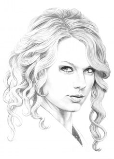 Online Contest - Female Celebrity pencil portraits - Fine Art America Taylor Swift by Murphy Elliott
