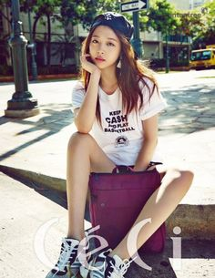 f(x)'s Sulli travels in style for 'CeCi' pictorial in Hawaii | allkpop.com