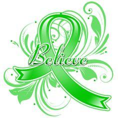 Cerebral Palsy Believe Flourish Ribbon