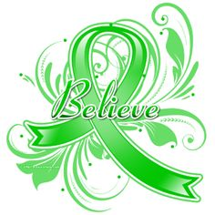 Cerebral Palsy Believe Flourish Ribbon