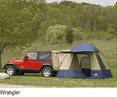 Jeep Tent - I might consider camping this way..