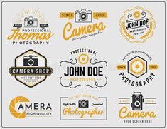 Illustration about Set of two tone colors photography and camera service logo insignia design vector illustration. Illustration of lens, emblem, photography - 58338608 Photography Logos, Color Photography, Photography Camera, Business Flyer Templates, Logo Templates, Badge Design, Logo Design, Happy New Year Fireworks, Father's Day Greeting Cards