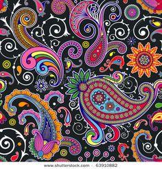 Colourful paisley - folk style