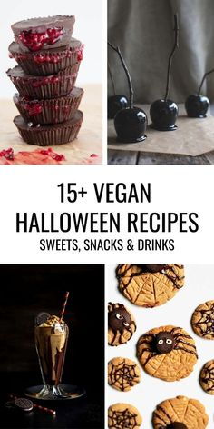 In this post, you'll find 15  amazing recipe ideas for Halloween including sweets, savory snacks, and drinks. Whether you're making them for a party or for your family, it's time to impress! | ElephantasticVegan.com #halloween #vegan #recipes Delicious Vegan Recipes, Healthy Dessert Recipes, Raw Food Recipes, Raw Desserts, Savory Snacks, Vegan Sweets, Meatless Monday, Vegan Dishes, Dairy Free Recipes