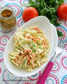 Bernika - mój kulinarny pamiętnik: Surówka z kapusty z sosem curry