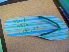 "walk on water craft | Through My ""I""s: ""Walk With Jesus"" craft tutorial"