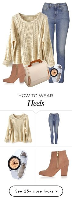 I love this outfit! It's a lot lighter and more neutral than I would usually go for but I really like the contrast of casual and comfy, with cute heeled booties.