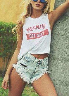 Mermaid Off Duty!!! Love it!