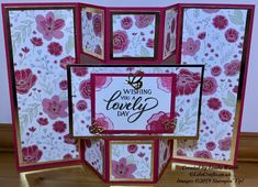Triple fold card is easier than it looks to make Joy Fold Card, Fancy Fold Cards, Folded Cards, Card Making Tutorials, Ink Pads, Creative Cards, Greeting Cards Handmade, Homemade Cards, Stampin Up Cards