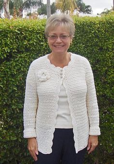 Soy Simple Cardigan By Carol Wolf - Free Crochet Pattern - (ravelry)