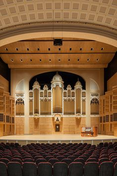 The Kotzschmar Memorial Organ, usually referred to as the Kotzschmar Organ, is a pipe organ located inside the city-owned Merrill Auditorium in Portland, Maine. Built in 1911 by the Austin Organ Co. as Opus 323, it was the second-largest organ in the world at the time, & it remains the largest organ in Maine today.