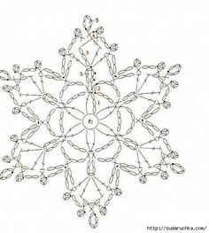Snowflakes - Crochet. Scheme .. Discussion on LiveInternet - Russian Service Online diary