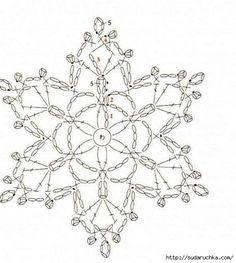 Snowflakes - Crochet. Scheme .. Discussion on LiveInternet - Russian Service Online diary