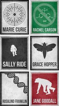 WOMEN IN SCIENCE: Minimalist Posters Celebrating Six Pioneering Women in Science | Brain Pickings