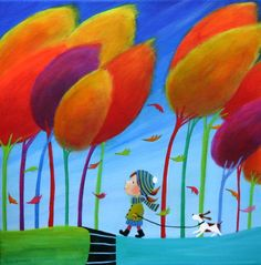 "Saatchi Art Artist Iwona Lifsches; Painting, ""Autumn Miracles SOLD"" #art"