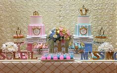 Cute idea for twins  prince and princess baby shower theme
