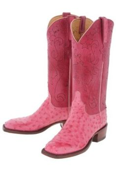 Pink Lucchese boots http://amzn.to/Ijg4GU