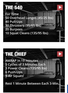 Two awesome go to CrossFit WOD