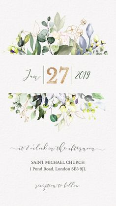 electronic save the date Unique Watercolor Greenery Wedding Invitation Video. This Elegant save the date is perfect to invite your guests to your rustic wedding with an email Save the Date. Pin This Click Through to See more digital save the date! Lace Invitations, Save The Date Invitations, Digital Invitations, Watercolor Invitations, Invitation Templates, Invitation Design, Electronic Wedding Invitations, Wedding Invitation Video, Invites Wedding