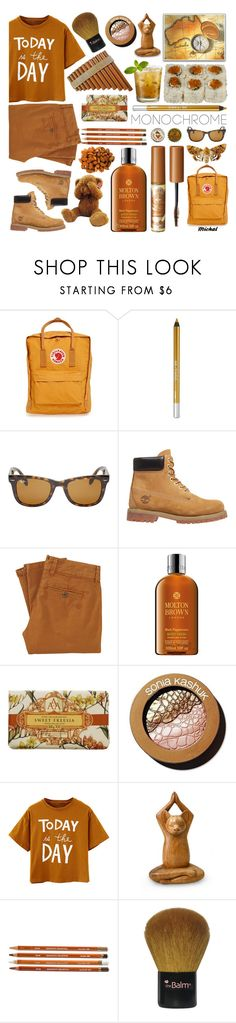 """""""One Color, Head to Toe 2"""" by michal100-15-4 ❤ liked on Polyvore featuring Fjällräven, Urban Decay, Ray-Ban, Timberland, Rich & Royal, Molton Brown, Sonia Kashuk, Gund, NOVICA and TheBalm"""