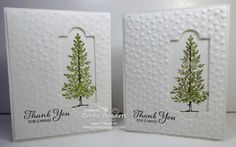 Thank You For Caring featuring Stampin Up's Lovely as a Tree stamp set, apothecary framelit, etc